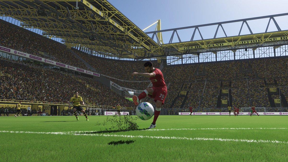 Pro Evolution Soccer 2018 имеет поддержку видеокарт NVIDIA Ansel
