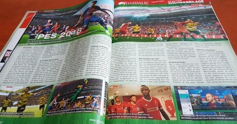 Pro Evolution Soccer 2018 в игровом журнале