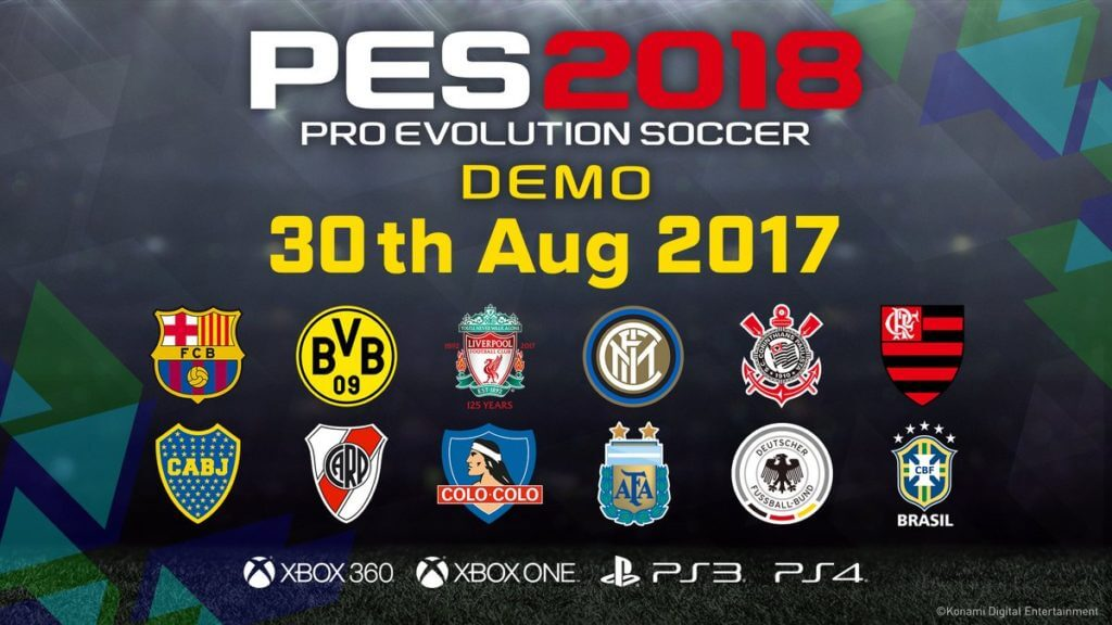 Анонс демоверсии Pro Evolution Soccer 2018