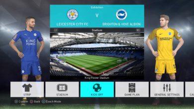 Заготовки формы для игры PES 2018 на платформе PS4