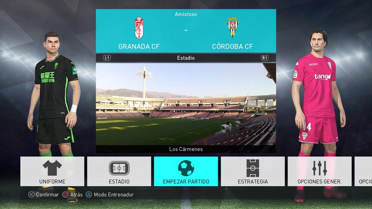 Формы второй лиги Испании сезона 2017-18 для игры PES 2018