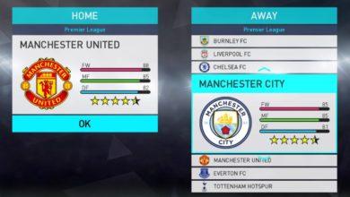 Формы Английской Премьер-лиги сезона 2017-18 для PES 2018