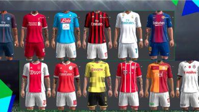 Футбольные формы сезона 2017-18 для PES 2013