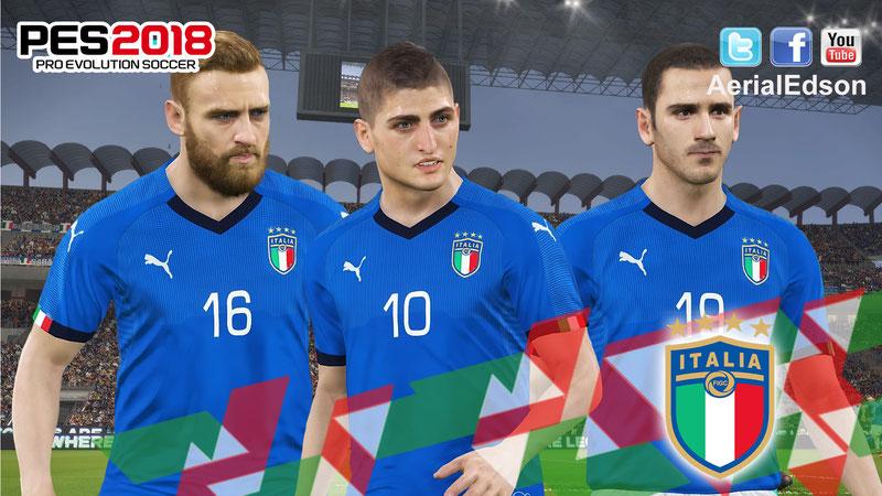 Домашняя форма национальной сборной Италии 2018