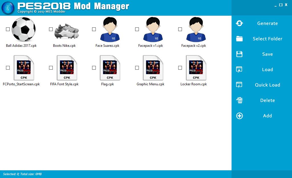 Mod Manager BETA для PES 2018