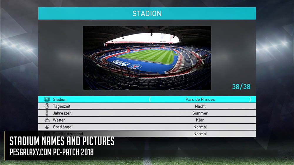 PESGalaxy PC-Patch 2018 версия 1.00