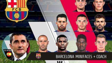 Мини-фейсы для ФК Барселона PC версии PES 2018