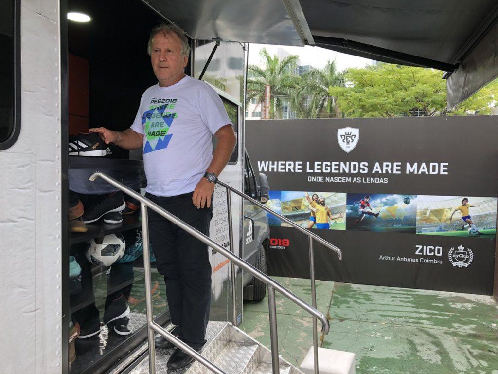 Легендарный Зико появился в MyClub игры PES 2018