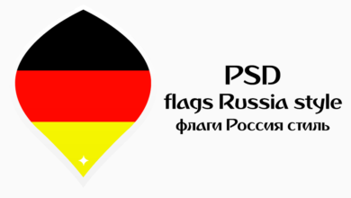 PES 2018 Flags Russia Style в PSD