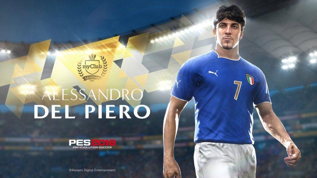 Легендарный Дель Пьеро в игре PES 2018