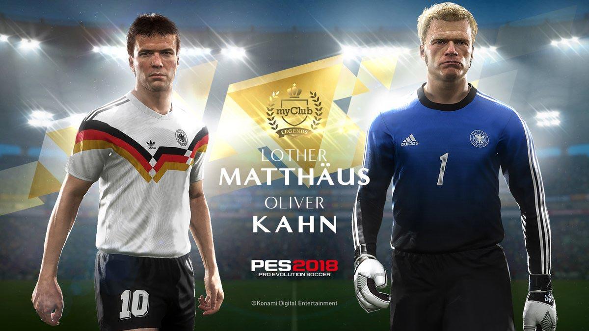 Легендарные игроки сборной Германии в PES 2018