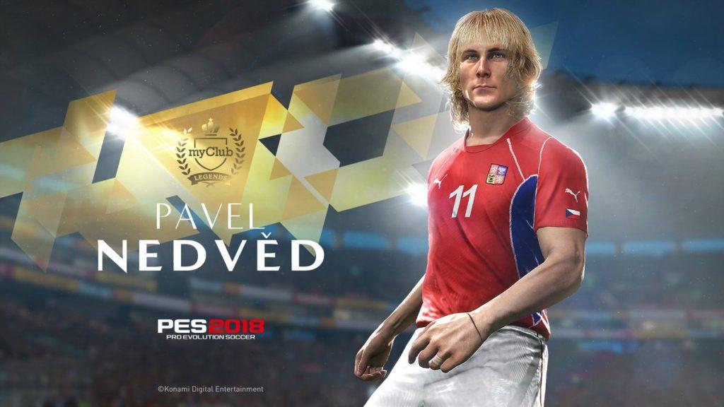 Легендарный Павел Недвед в игре PES 2018