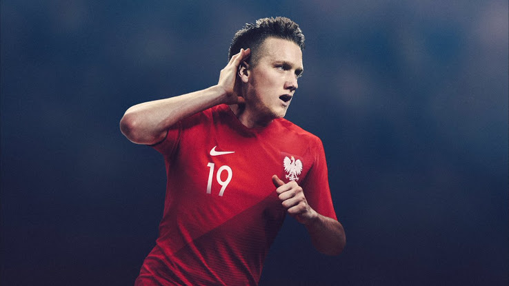 Выездной комплект футбольной формы сборной Польши на WC 2018