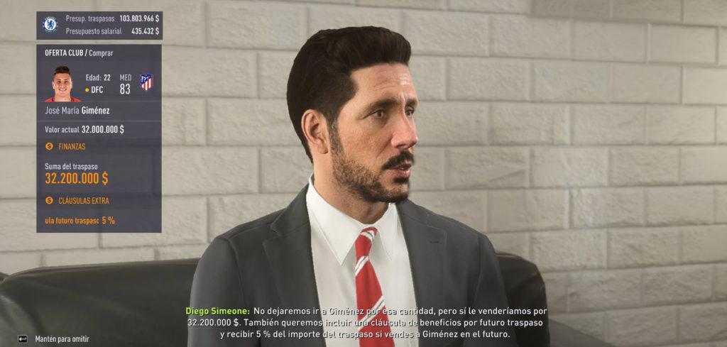 Диего Симеоне в FIFA 18
