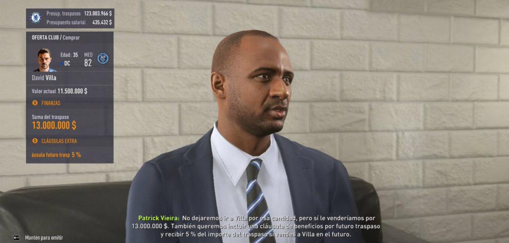 Патрик Виейра в FIFA 18