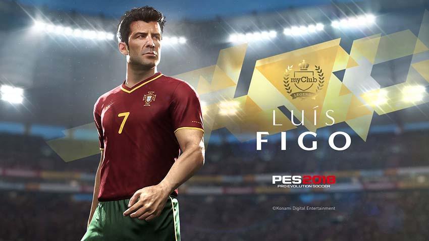 Луиш Фигу доступен в игре Pro Evolution Soccer 2018