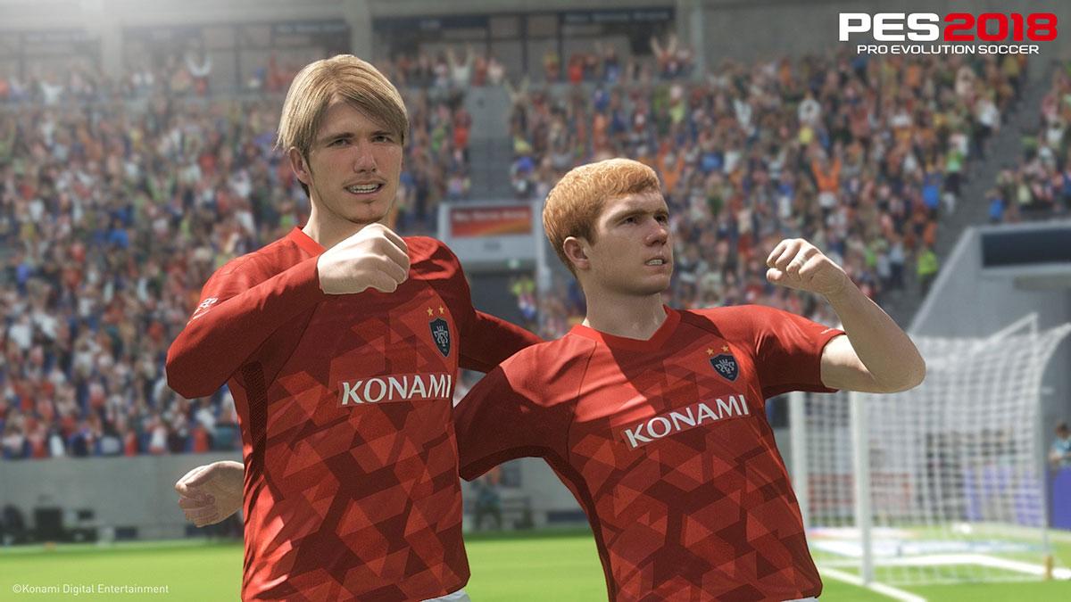 Пол Скоулз и Дэвид Бекхэм в Pro Evolution Soccer 2018