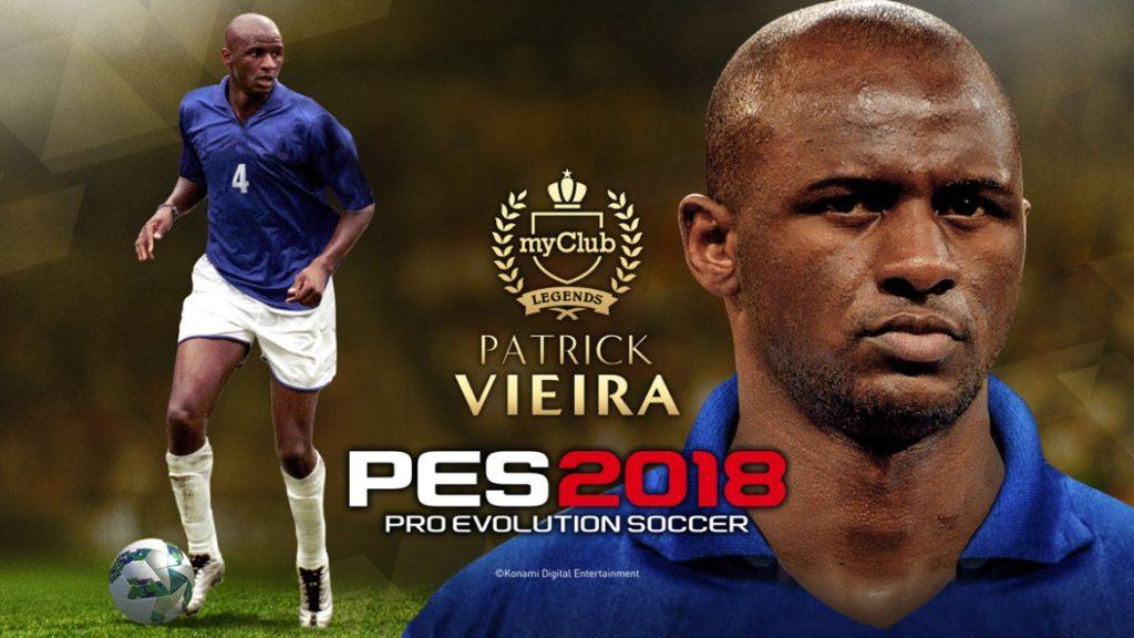 Бразильские легенды и Патрик Виейра в PES 2018
