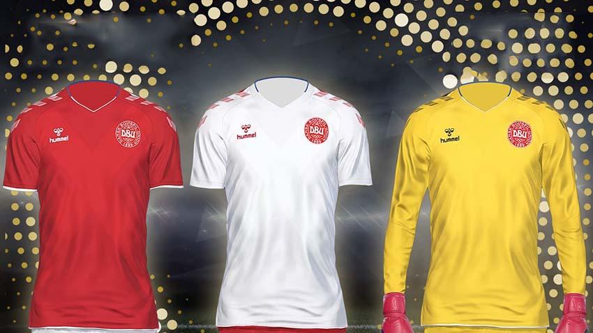 Форма сборной Дании для PES 2018