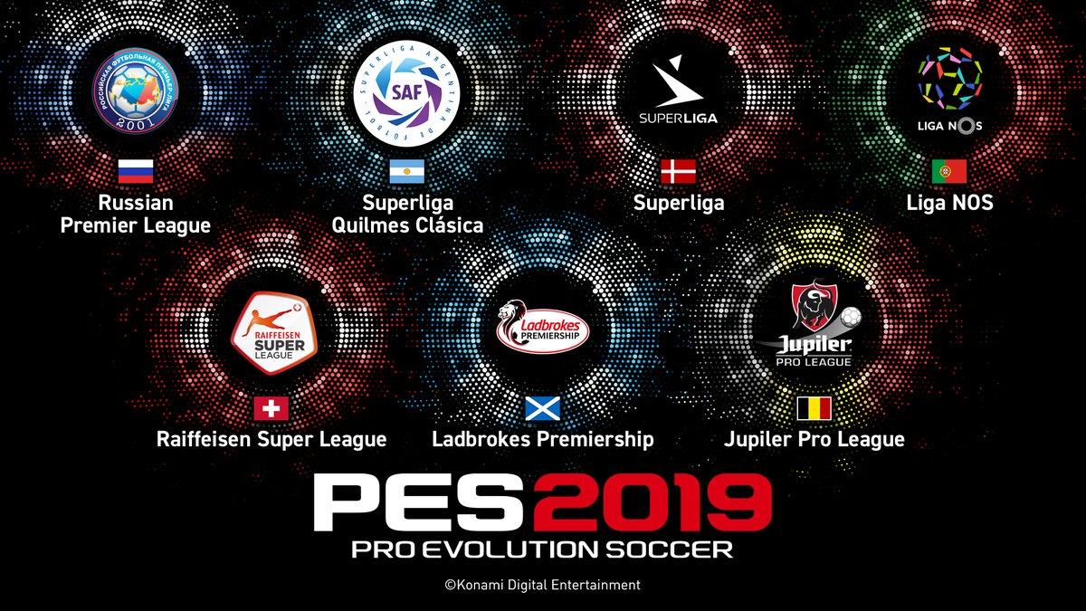 В Pro Evolution Soccer 2019 добавили 7 новых лиг