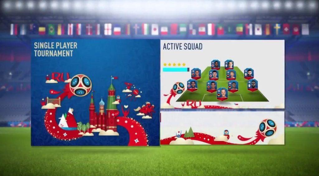 Меню FIFA World Cup Russia 2018