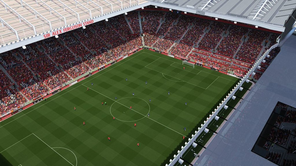 Стадион Олд Траффорд в PES 2018