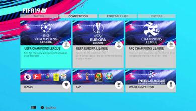 Графика FIFA 19 - новое меню PES 2013