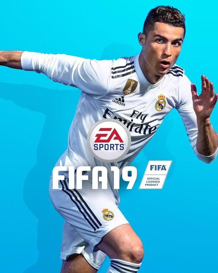 Официальная обложка FIFA 19