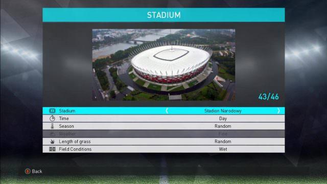 Добавлены стадионы PES 2018