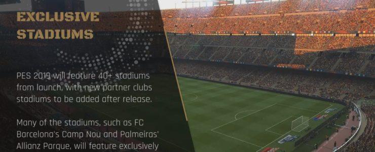 Стадионы PES2019