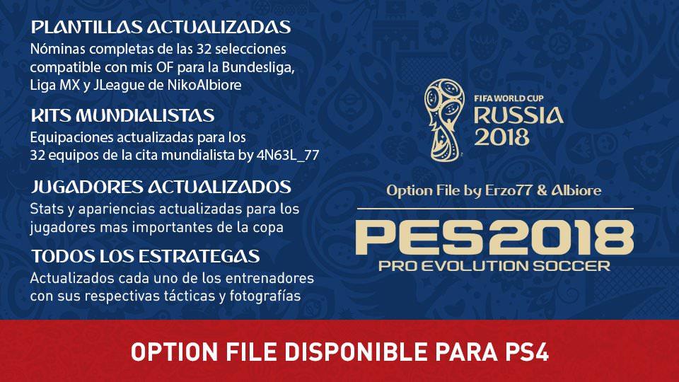 WC 2018 для PES 2018