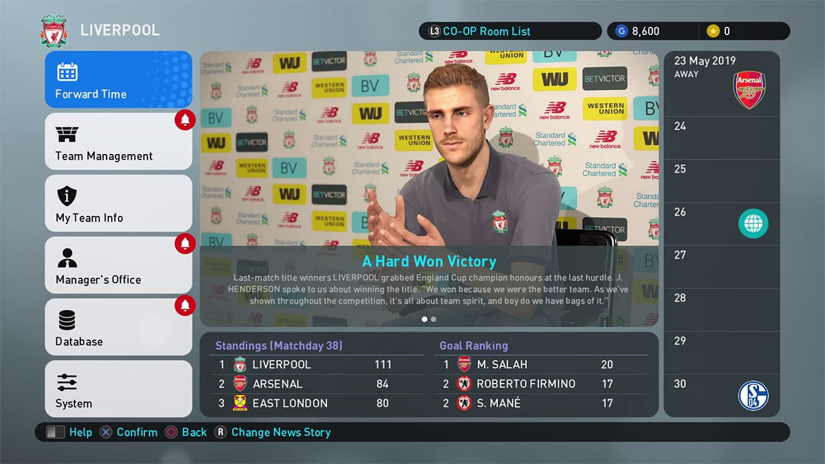 Мастер Лига в PES 2019