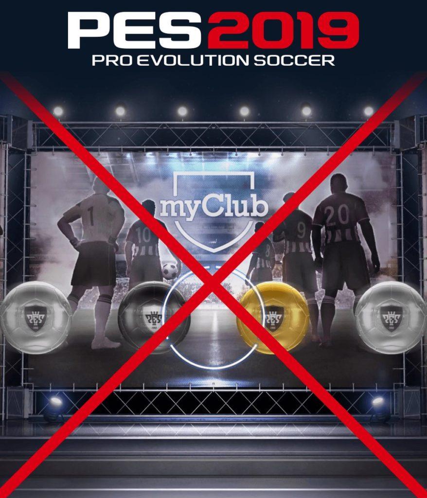 Режим MyClub в PES 2019