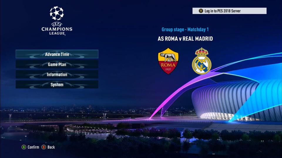 Лига чемпионов в PES 2018