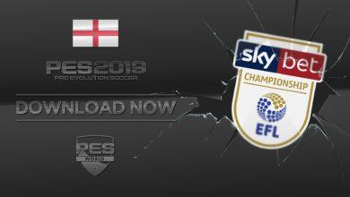 Опшен файл Sky Bet Championship для PES 2019 PS4 и PC