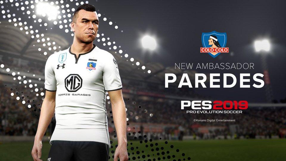 Эстебан Паредес официальное лицо PES 2019 в Чили