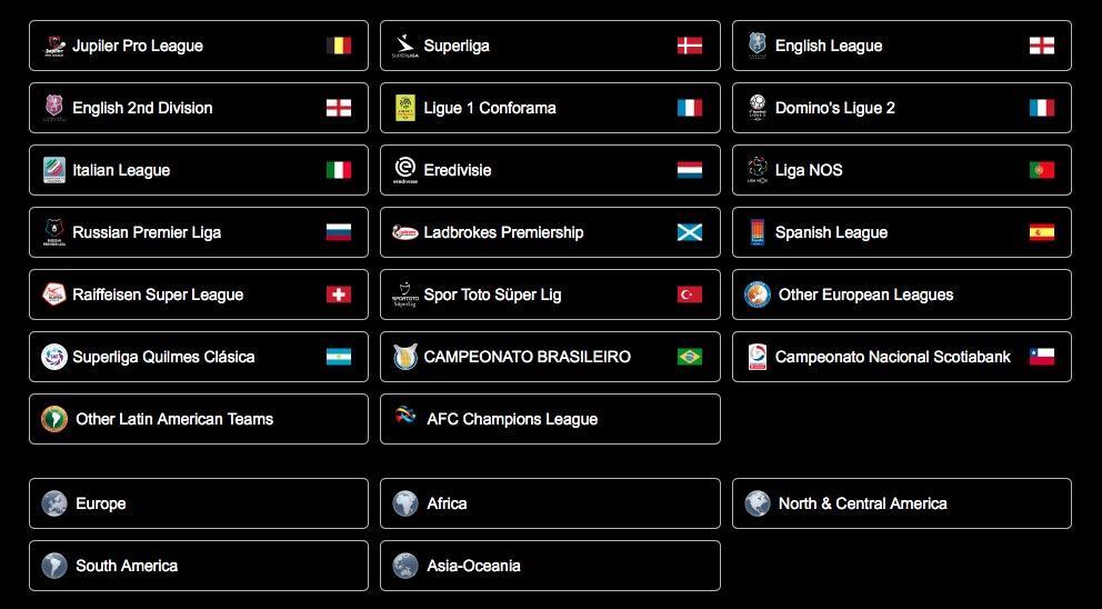 Список лиг в PES 2019