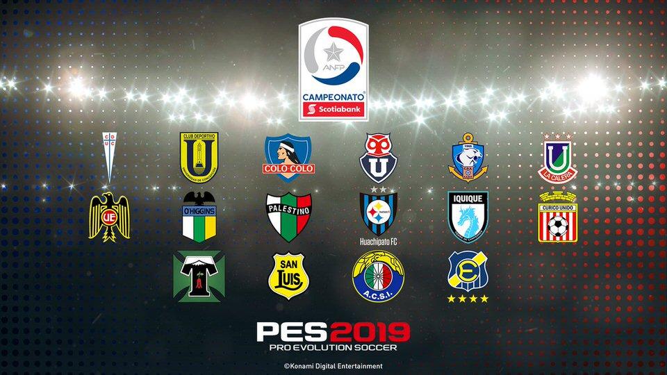 Чемпионат Чили лицензирован в PES 2019