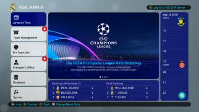 Оформление Мастер Лиги для PES 2019