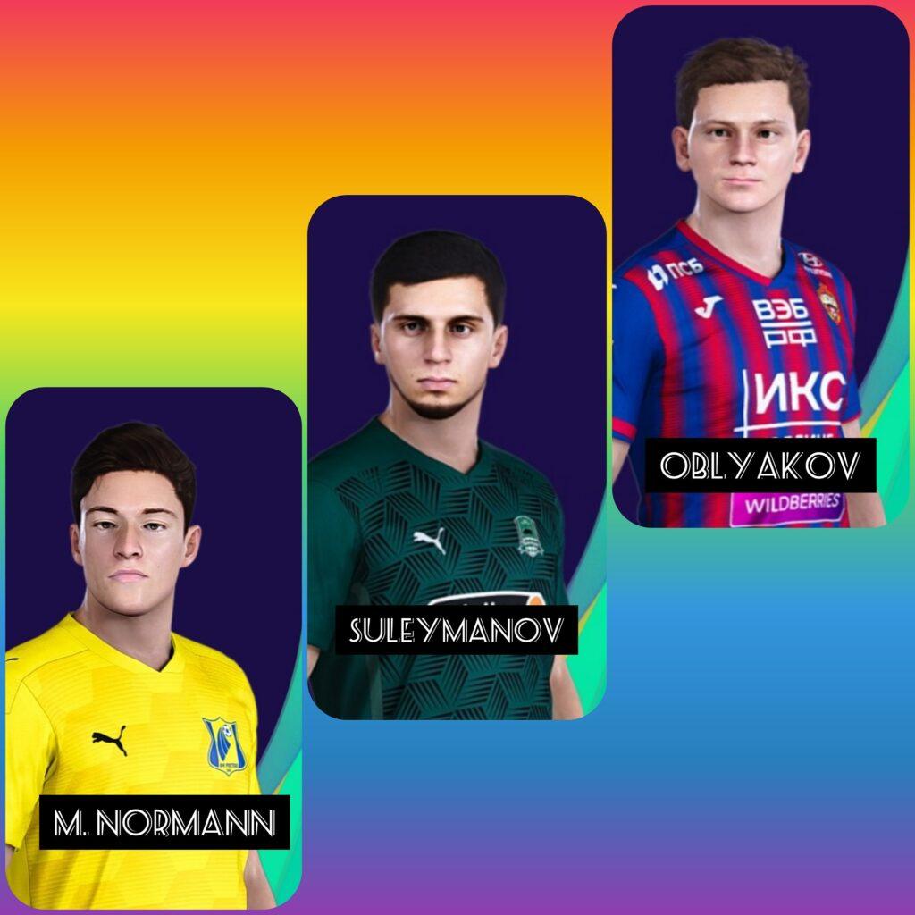 Лица игроков РПЛ в DLC 7.0 для PES 2021